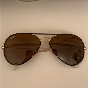 Ray Ban Aviator Full Color Tortoise and Gold